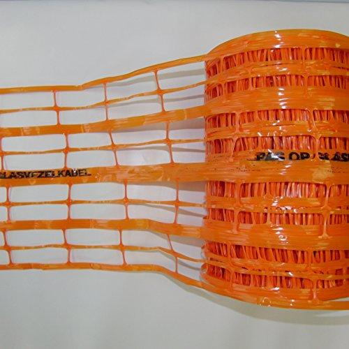 Trassenwarnband, Warnband, Warnnetz zum Schutz von erdverlegten Kabeln, Rohren und Rohrleitungen, 300mm x 100m, orange