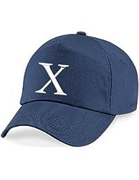 4sold casquette garcon Baseball Cap Fille Enfants Chapeau Bonnet Unisexe bleu marin A-Z Alphabet