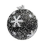 samLIKE 1 Stücke Weihnachtskugeln Christbaumschmuck Dekorationen Hängen Ornament Dekor (schwarz)