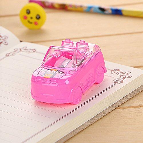 Desktop Sharpener für Teenages Boys, Girls Cute Car Form Doppel Loch Anspitzer für Home School & Office (Pink)