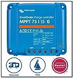 Premium set Victron regolatore di carica Smart Solar MPPT 75/15 per camper, incluso bluetooth