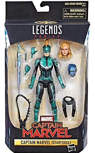 Marvel Legends Series Captain Marvel Movie 6-inch Captain Marvel (Star Force) Figure