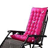 Souarts Stuhlauflage Hochlehner Auflage mit dicker Comfort Polsterung geeignet für Gartenstuhl Klappsessel Liegestuhl Stern Mond Muster 110x40x8cm (Roserot)