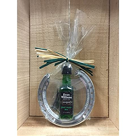 Kentucky Derby Party - 2016 Evan Williams Mint Julep Horseshoe Gift Set by Derby Traditions