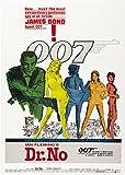 James Bond 007-Dr. No, Poster Filmplakat, A3, 280 G/Qm, Fotopapier, Seidenmatt