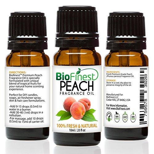 biofinest Pfirsich Duftöl–100% Pure & Natural–Fresh Home Duft–Air Refresher–Entspannende Aromatherapie–Haut und Haar Care–GRATIS E-Book