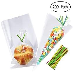 200 unidades - embalajes celofan - mixto triangulo y rectangulo