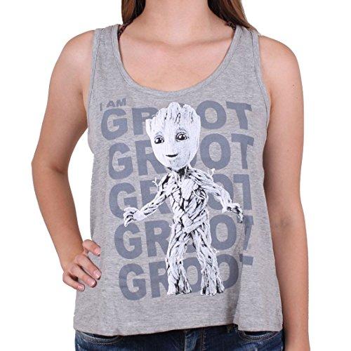 cotton division Debardeur Gardiens de la Galaxie 2 Marvel Femme - Standing Groot Gris Femme