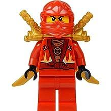 lego ninjago kai minifig red ninja with two gold swords limited - Ninjago Rouge