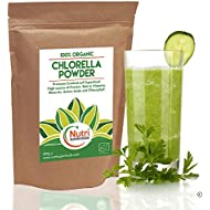 Chlorella Powder, Organic Cracked Cell Vegan Plant Protein, boosts Energy, Helps regulates Hormones, aids Digestion, detoxes The Body of Heavy Metals & toxins - 400g