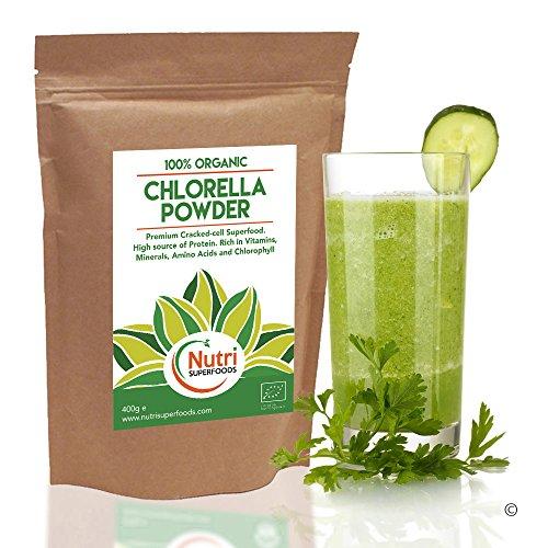 POLVERE DI CLORELLA, prodotto biologico di prima qualità, ad alto contenuto energetico. Per regolare la produzione ormonale, abbassare i livelli di zucchero e di colesterolo nell'organismo - 400g