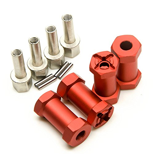 110-Alloy-12mm-Wheel-Hub-Hex-Drive-Adaptor-25mm-Offset-SCX10-WRAITH-RC-Crawler-Matte-Red