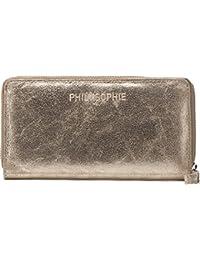 PHIL+SOPHIE, Geldbörsen, Portemonnaies, Börsen, Brieftaschen, Metallic, 19x10,5x2 cm (B x H x T)