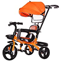 Kids Trike, Children Tricycle Bike, Reversible Seat with Canopy, Back Storage And Removable Parent Handle, for 12 Months - 5 Years, Weight Load 35 Kg