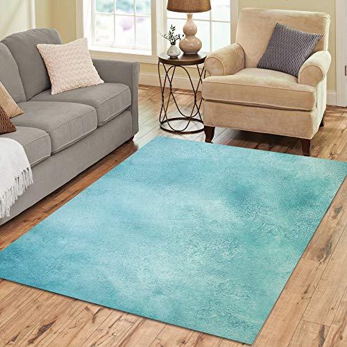 Kommerziellen Outdoor-kollektion (Blau Petrol / Farbe Kunst Aquarell große benutzerdefinierte rutschfeste moderne Bodenfläche Teppich Matte orientalischen kommerziellen Teppich Keller Schlafzimmer Wohnzimmer Wohnkultur 5 x 7