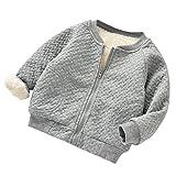 Baby Mantel, Dragon Infant Kinder Jungen Mädchen Mit Kapuze Reißverschluss Mantel Cartoon Tier Warme Oberteile Kleidung Mantel (6M, Grau)