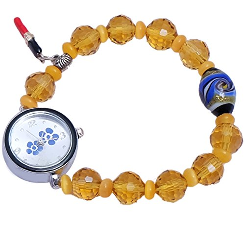 Super Drool ST2441_WT Beads And Charms Analog Watch For Girls