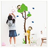 XL! Monkey Tree Growth Chart, tape measure, yardstick Wall Decal wall stickers wall stickers children