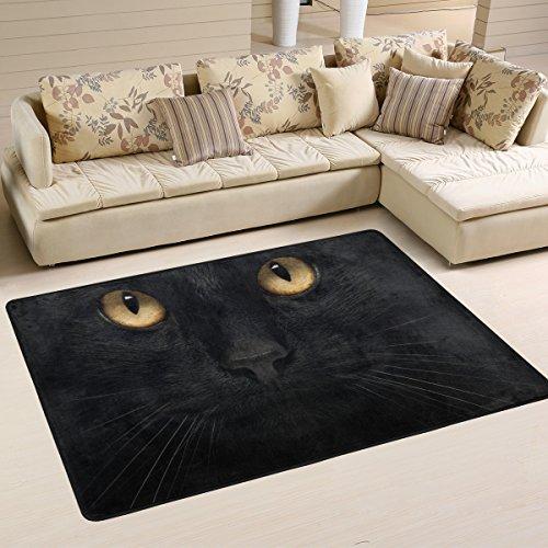 coosun schwarz Katze Bereich Teppich Teppich rutschfeste Fußmatte Fußmatten für Wohnzimmer Schlafzimmer 91.4 x 61 cm, Textil, multi, 36 x 24 inch (Kid Teppiche)