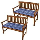 Set di plaid cotone cuscino del sedile sedia patto giardino pad poliestere 2 bancari