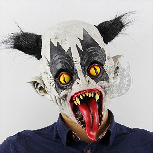 SQCOOL Variation Clown Masken Halloween Horror Bar Tanz Kammer Escape Requisiten Scary Latex Half Messer
