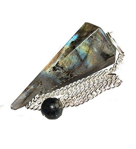 Péndulo cónico de cristal para radiestesia y sanación - gemas natur