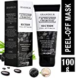 Grandeur Activated Charcoal Peel Off Mask,100g, Blackhead Remover Mask, Face Mask, Deep Cleansing