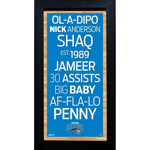 Steiner Sports NBA Subway Schild, gerahmt, 15 x 30 cm, Herren, blau, 16x3x8