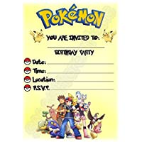 Pokemon Birthday Party Invites - Portrait Design - Party Supplies    Accessories (Pack of 12 c6952b7be