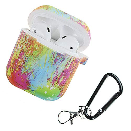 Price comparison product image RONSHIN Camouflage Silicone Shockproof Protector Cover Case Carabiner for Airpods Case i10 i12 TWS Bluetooth Luminous Protector painting