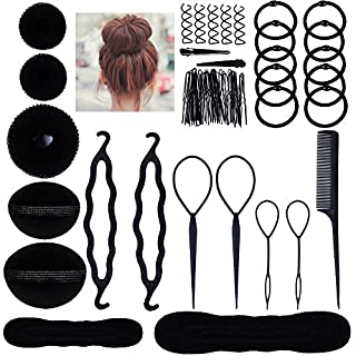 Lictin Hair Styling Set, Fashion Hair Design Styling Tools Accessories DIY Hair Accessories Hair Modelling Tool Kit Hairdress Kit Set Magic Simple Fast Spiral Hair Braid Hair Braiding Tool