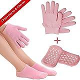 Feuchtigkeitsspendende Handschuhe und Spa-Socken, weiche Baumwoll-Peel-Maske mit SPA-Handschuhen für Mann und Frau in trockener Haut Hände und Füße über Nacht (1 x Paar Handschuhe & Socken)