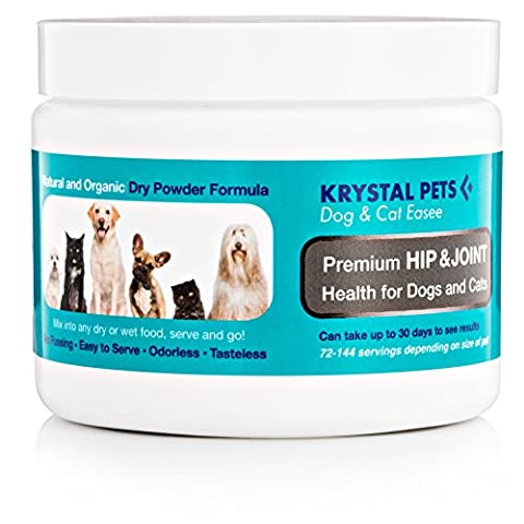 ALL NATURAL JOINT HIP ARTHRITIS PAIN RELIEF SUPPLEMENT FOR DOGS AND CATS ANTI INFLAMMATORY POWDER FORMULA JUST ADD TO WET OR DRY