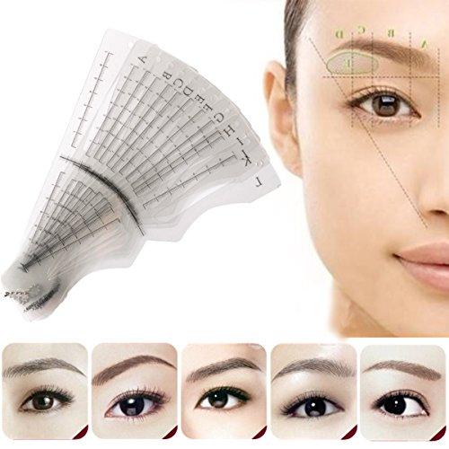 Augenbrauen Schablonen, LuckyFine 12 Stück Augenbrauen karte Augenbraue Make-up Werkzeug