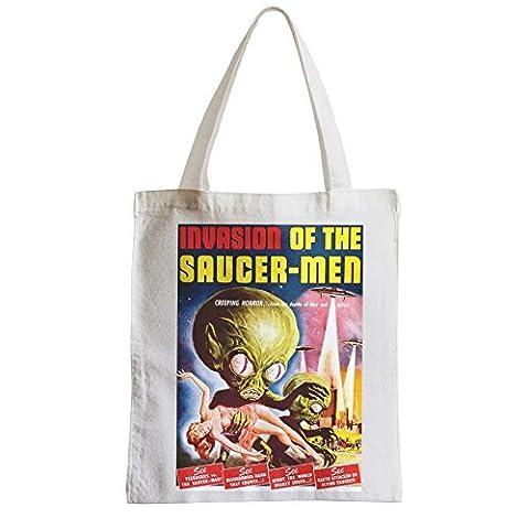 Grand Sac Shopping Plage Etudiant Alien Invasion Of The Saucer Men Cinema Film E T Vintage
