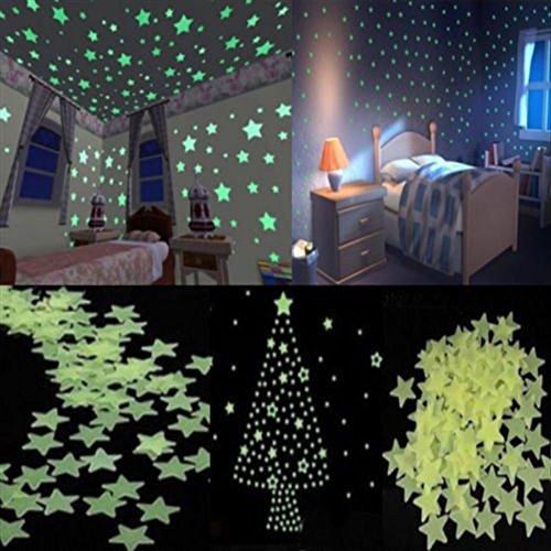 cke Hause Wandleuchte Grün Glow In The Dark Stern Aufkleber Baby Room ()