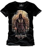 Assassins Creed Callum Lynch T-Shirt Black Cotton - XXL