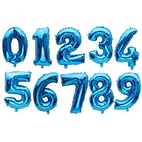 Creation Aluminium Foil Ballons & Accessories (Style: Pure Blue 5 & Size: 16 inch)