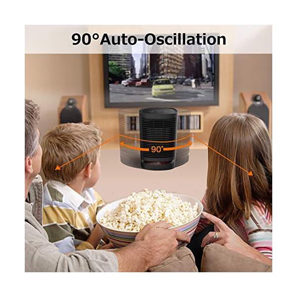 Uvistare Calefactor Eléctrico Portátil Calentador 950W Calefactor de Aire Caliente Termoventiladores de Ventilador…