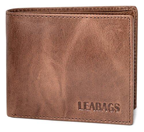 LEABAGS Springfield portefeuille rétro-vintage en véritable cuir de buffle - CrazyVinkat