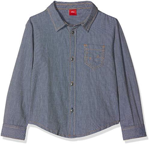 s.Oliver Junior Jungen Hemd 63.811.21.6899 Blau (Blue Knit 58x7) 116