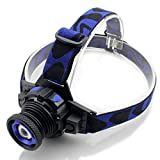 Zoomable Q5 LED Headlamp Headlight Lamp Torch Miner Mining Lamp Light Battery +