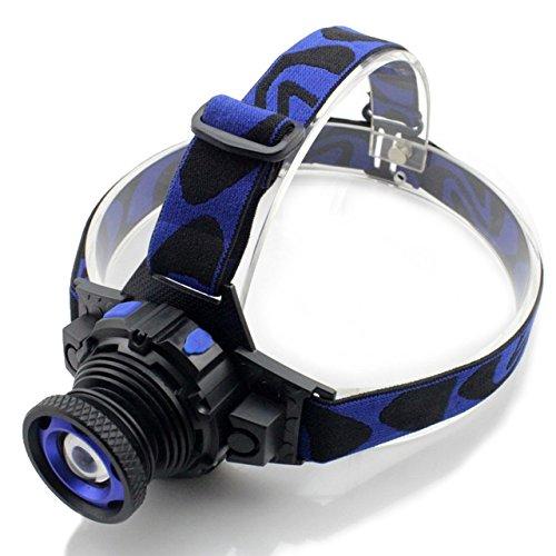 Zoomable CREE Q5 LED Stirnlampe Kopflamper lampe Taschenlampe Bergbau Bergmann Lampe Akku + Ladegeräte 2000Lms 5W für Camping Biking Arbeits Jagen Fischen Reiten Walking (Inklusive Akku und Ladegerät)