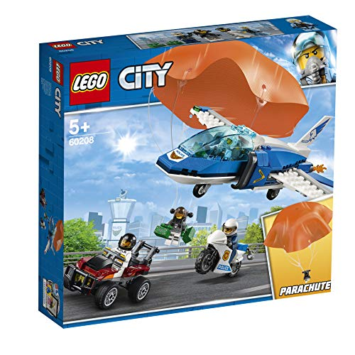 LEGO 60208 City Police Sky Police Parachute Arrest Playset, Toy Jet and Buggy Car, Police Toys for Kids Best Price and Cheapest