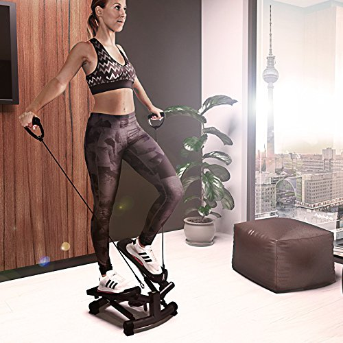 Sportstech 2in1 Twister Stepper mit Power Ropes – STX300 Drehstepper & Sidestepper für Anfänger & Fortgeschrittene, Up-Down-Stepper mit Multifunktions-Display, Hometrainer Widerstand einstellbar - 7
