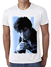 Alain Delon Blue: Men's T-shirt Celebrity Star One in the City