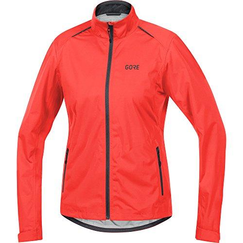 GORE WEAR Damen Wasserdichte Fahrrad-Jacke, C3 Women TEX Active, 36, 100041, lumi orange/Terra Grey