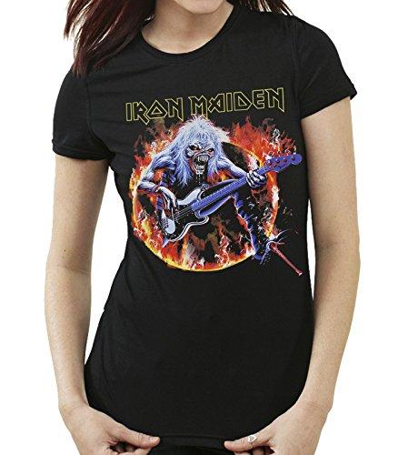 35mm - Camiseta Mujer - Iron Maiden - Steve Harris - Women'S T-Shirt, NEGRA, XXL