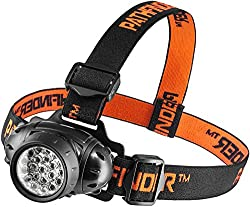 PATHFINDER 21 LED Headlamp Headlight Head Torch – Lightweight, Comfortable and Weatherproof Flash Light/Torch – Water Resistant Safety Head Lamp - 4 User-Friendly Modes of Operation - Garage Workshop Garden Head lamp, Head Torch for Biking, Cycling, Climbing, Camping, Dog Walking, Hiking, Fishing, Night Reading, Riding, Running and other Outdoor and Indoor Activities - Adjustable Head Strap - 135 Degrees Adjustable Beam Angle - 100,000 Hours LED lifetime (in RETAIL PACKAGING) - BLACK