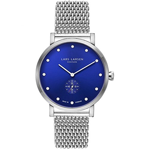 LARS LARSEN Christopher Silver/Blue Mesh - Reloj (41 mm)